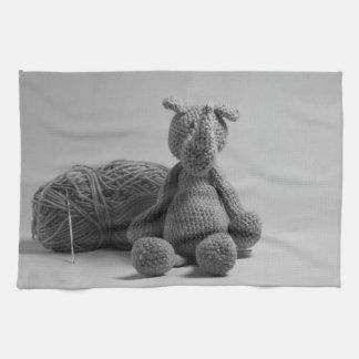 Rinoceronte lindo toallas de cocina