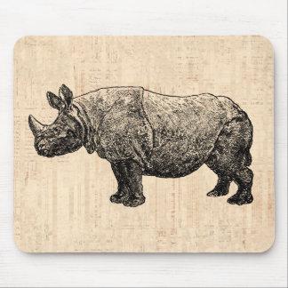 Rinoceronte Mousepad del vintage