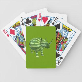 Rinoceronte nacional del día de la sandía barajas de cartas