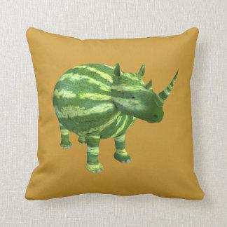Rinoceronte nacional del día de la sandía cojín