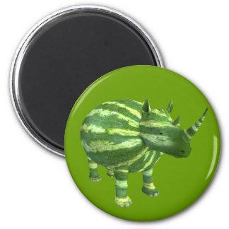 Rinoceronte nacional del día de la sandía imán redondo 5 cm