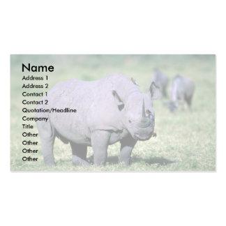 Rinoceronte negro alerta tarjetas personales