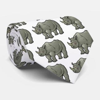 Rinoceronte negro corbatas personalizadas