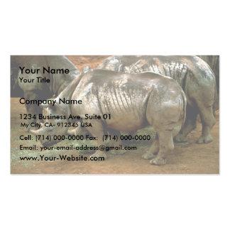 Rinoceronte negro tarjetas de visita