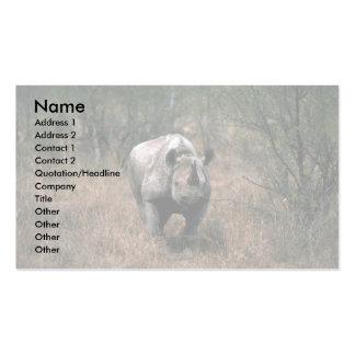 Rinoceronte negro tarjeta de negocio