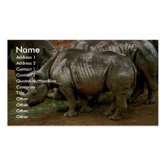 Rinoceronte negro plantilla de tarjeta de negocio