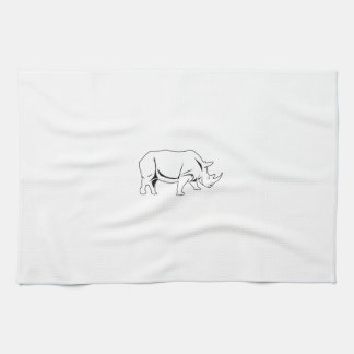 Rinoceronte Toalla De Cocina