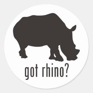 Rinoceronte Etiquetas Redondas
