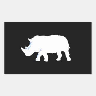 Rinoceronte Pegatina Rectangular