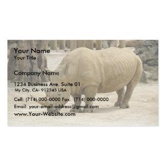 Rinoceronte pesado de Brown en el parque zoológico Plantillas De Tarjetas De Visita
