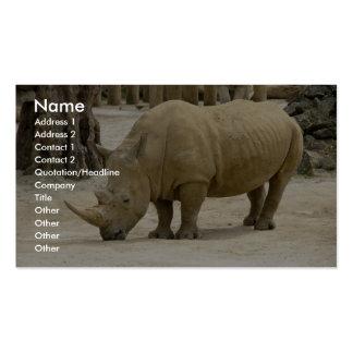Rinoceronte pesado de Brown en el parque zoológico Tarjetas De Negocios