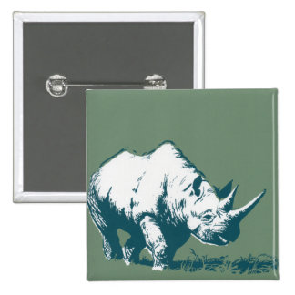 Rinoceronte Pin Cuadrado
