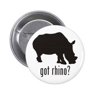 Rinoceronte Pin Redondo De 2 Pulgadas