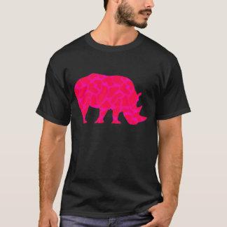 Rinoceronte rosado playera