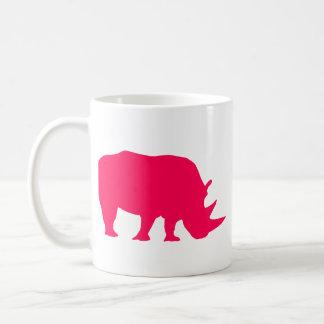 Rinoceronte rosado taza