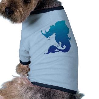 Rinoceronte-Stego-Pescados (esquema de color de ag Camisetas De Perro