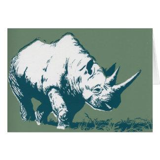 Rinoceronte Tarjeta De Felicitación