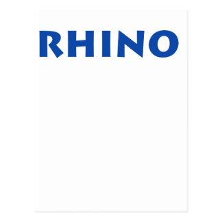 ¡Rinoceronte! Tarjetas Postales