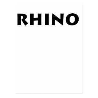 ¡Rinoceronte! Postales
