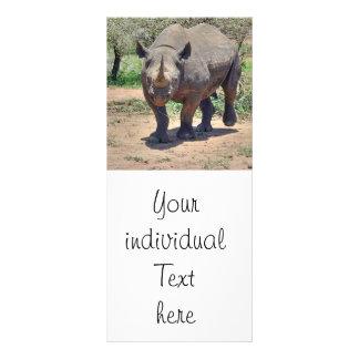 rinoceronte diseños de tarjetas publicitarias