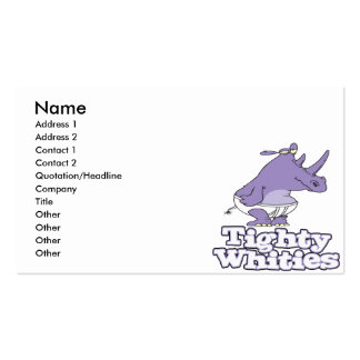rinoceronte tonto divertido en ropa interior tight tarjetas de negocios