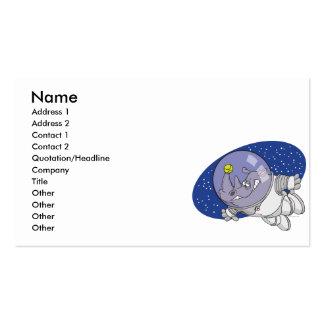 rinoceronte tonto en dibujo animado del espacio ex plantilla de tarjeta personal