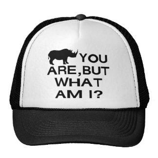 Rinoceronte usted es gorros bordados