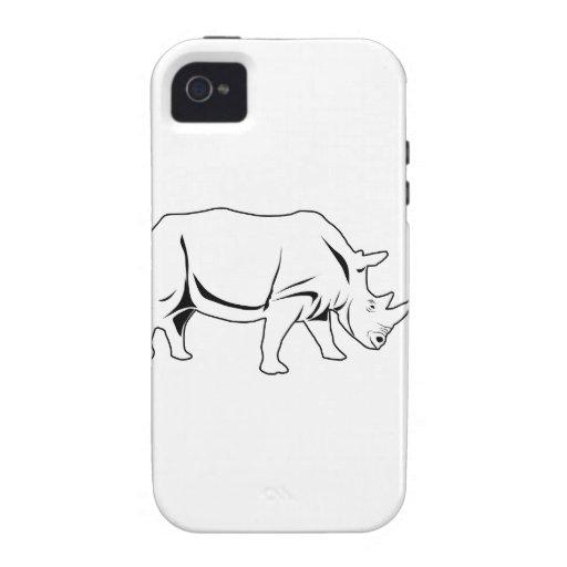 Rinoceronte Vibe iPhone 4 Carcasa