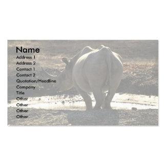 Rinoceronte visión trasera tarjetas de visita