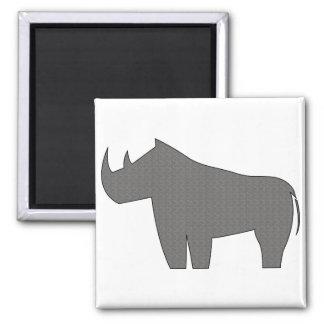 Rinocerontes - rinoceronte imán cuadrado