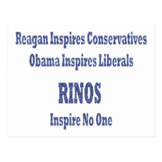 Rinos Inspire No One Postcard