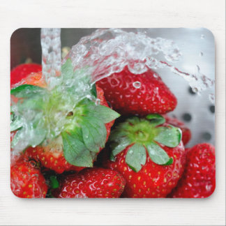 Rinsing Strawberry With Water Mousepad