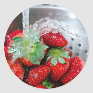Rinsing Strawberry With Water Sticker
