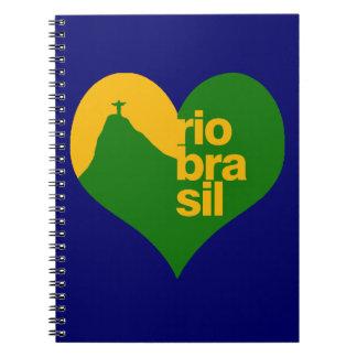 rio 2014 brasil spiral notebook
