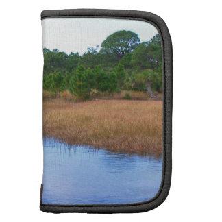 Río a través de la imagen del pantano de la sabana planificadores