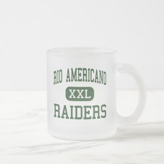 Rio Americano - Raiders - High - Sacramento Frosted Glass Coffee Mug