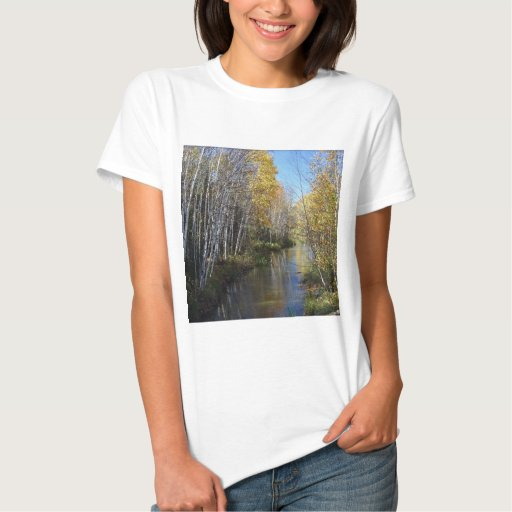 Río Aspen del árbol Tshirt
