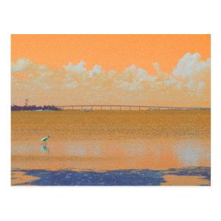 Río azul anaranjado la Florida del puente del Tarjetas Postales
