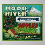 Río azul de LabelHood del cajón de Apple de la fle Impresiones