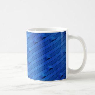 Río azul taza básica blanca