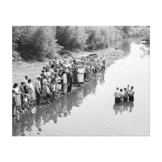 Río Baptism, 1940 Impresiones En Lona Estiradas