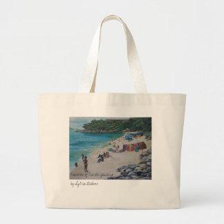 Rio Beach, Beaches of Rio de Janeiroby Sylvia L... Canvas Bag