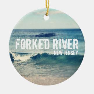 Río bifurcado - 2013 - recuperación en la orilla adorno redondo de cerámica