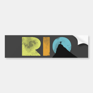 RIO bold letters with Corcovado Bumper Sticker