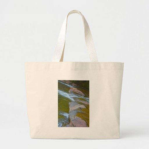 río bolsa lienzo