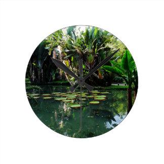 Rio Botanical Garden Round Wall Clock