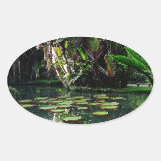 Rio Botanical Garden Oval Sticker