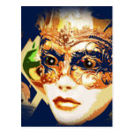 Rio Carnival Mardi Gras Mask Postcard