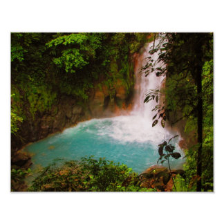 Rio Celeste Waterfall, Costa Rica Print