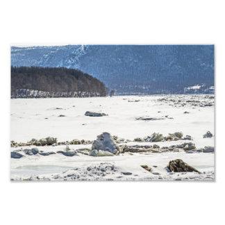 Río congelado fotografía